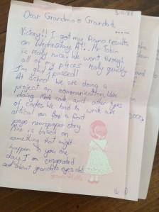 Letter to Grandma