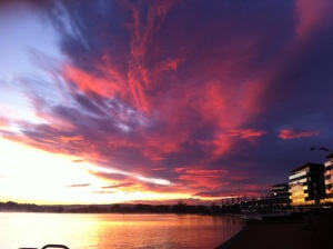 A stunning morning on Lake Burley Griffin