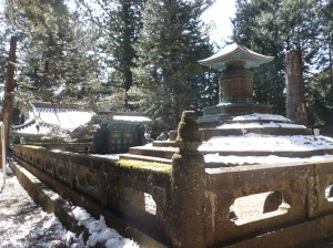 Japanese temple in snow