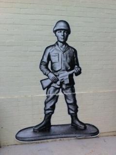 Street art paste-up